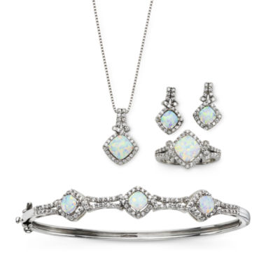 jcpenney.com | Lab-Created Opal & Cubic Zirconia 4-pc. Set