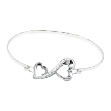 jcpenney.com | Love Grows™ Diamond-Accent Sterling Silver Double-Heart Bracelet