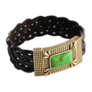 Art Smith by BARSE Color-Treated Green Turquoise Magnet Bracelet