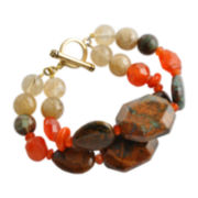 Art Smith by BARSE Multi-Gemstone 2-Strand Bracelet
