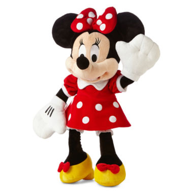 "jcpenney.com | Disney Collection Red Minnie Mouse Medium 17"" Plush"