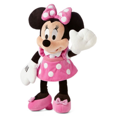 "jcpenney.com | Disney Collection Pink Minnie Mouse Medium 17"" Plush"