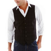 JF J. Ferrar® Slim-Fit Plaid Vest