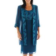 Dana Kay Glitter Dress with Duster Coat