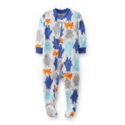 Carter's® Long-Sleeve Microfleece Monsters Bodysuit – Boys 12m-24m