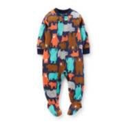 Carter's® Long-Sleeve Microfleece Bear-Print Bodysuit – Boys 12m-24m