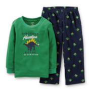 Carter's® 2-pc. Thermal and Fleece Dinosaur Pajama Set – Boys 2t-5t