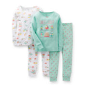 Carter's® 4-pc. Glitter Pajama Set – Girls 2t-5t