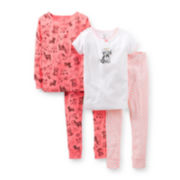 Carter's® 4-pc. Glitter Dog Pajama Set – Girls 2t-5t