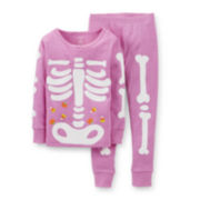 Carter's® 2-pc. Glow-in-the-Dark Halloween Pajama Set – Girls 2t-5t