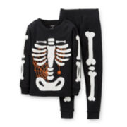 Carter's® 2-pc. Glow-in-the-Dark Halloween Pajama Set – Boys 2t-5t