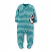 Carter's® Long-Sleeve Microfleece Sleep and Play – Boys newborn-9m
