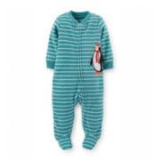Carter's® Long-Sleeve Microfleece Sleep and Play – Boys newborn-9m
