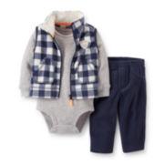 Carter's® 3-pc. Vest and Pants Set – Boys newborn-24m