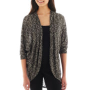 by&by Open-Front Marled Knit Cardigan