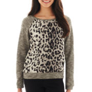 by&by Animal-Print Sweatshirt
