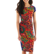 XOXO® Short-Sleeve Print Sheath Dress
