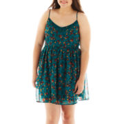 Arizona Sleeveless Floral Lace Dress - Plus