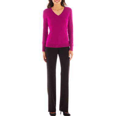 jcpenney.com | Worthington® Ribbed Cardigan Sweater or Modern Trouser Pants - Petite
