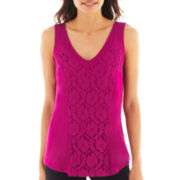 Worthington® Lace Tank Top - Petite