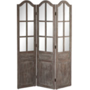 Weathered 3-Panel Room Divider