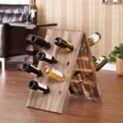 24-Bottle Rustic Wine Rack