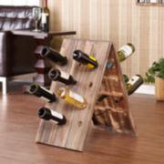 24-Bottle Rustic Wine Rack