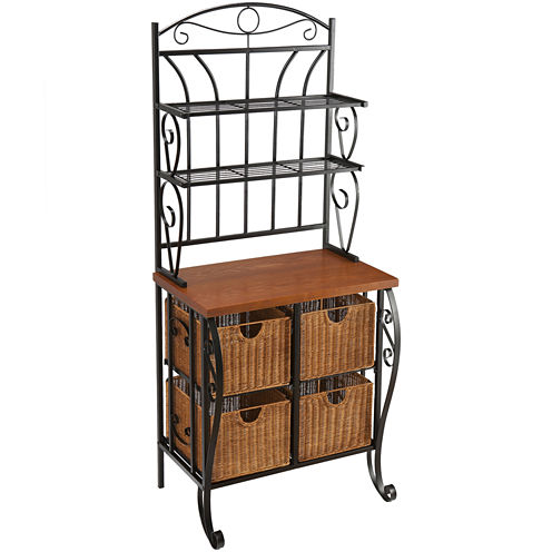 Baker's Rack with 4 Baskets