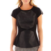Worthington® Colorblock Peplum Top - Petite