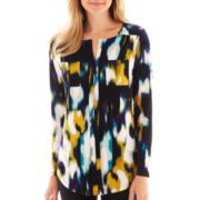 Worthington® Long-Sleeve Tunic Top