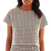 Worthington® Cap-Sleeve Crop Top