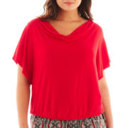 Alyx® Short-Sleeve Banded Crochet-Back Top