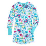 Jellifish Heart-Print Fleece Sleep Shirt - Girls 4-16