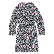 Jellifish Cheetah-Print Fleece Robe - Girls 4-16