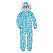 Jellifish Polar Bear Zip-Front Pajamas - Girls 4-16