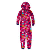 Jellifish Heart Zip-Front Pajamas - Girls 4-16