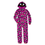 Jellifish Hooded Penguin Zip-Front Pajamas - Girls 4-16