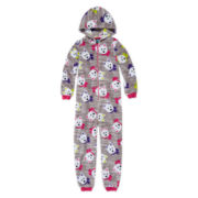 Jellifish Hooded Dog Zip-Front Pajamas - Girls 4-16