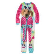 Jellifish Dog-Print Sleeper Pajamas - Girls 4-16