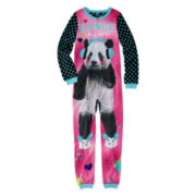 Jellifish Panda-Print Sleeper Pajamas - Girls 4-16