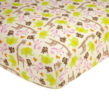 jcpenney.com | Carter's® Jungle Fitted Crib Sheet - One Size