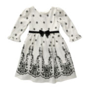 Youngland® Floral-Print Knit Dress - Toddler Girls 2t-4t