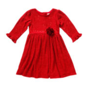 Youngland® Sequin Knit Dress - Toddler Girls 2t-4t