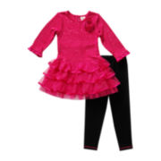 Youngland® Sequin Tunic and Leggings - Toddler Girls 2t-4t