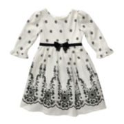Youngland® Floral-Print Knit Dress - Preschool Girls 4-6x