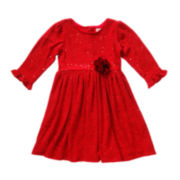 Youngland® Sequin Knit Dress - Preschool Girls 4-6x