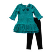Youngland® Sequin Tunic and Leggings Set - Preschool Girls 4-6x