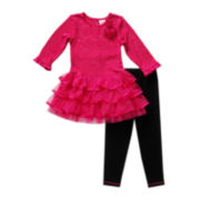 Youngland® Sequin Tunic and Leggings Set - Preschool Girls 4-6x