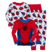Spider-Man 4-pc. Cotton Pajama Set - Boys 4-10