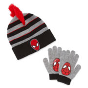 Spiderman Hat and Glove Set - Preschool Boys 4-7